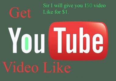 I will give you 150+ real YouTube like