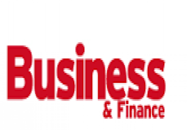 write and guest post on business and finance blog..