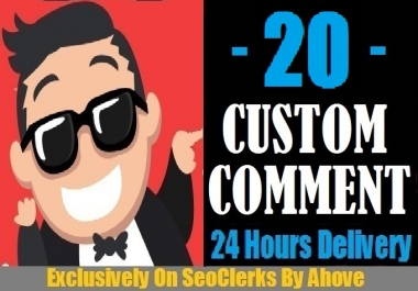 Start Instant 20 Comments Random Or Custom In Social Media Posts