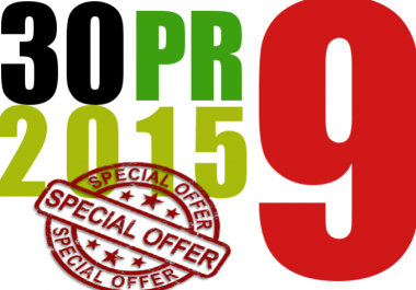 I will manually do 30 PR9 Safe SEO High Pr Backlinks 2015 Best Results for
