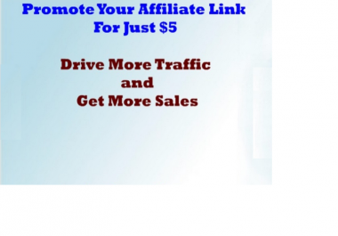 promote Your Affiliate Link Drive More Traffic and Get More Sales