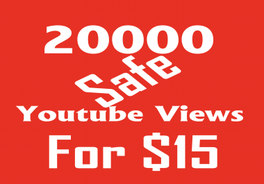 Fast service 20000 youtube views within 4-5 days only