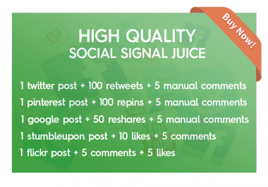 Social Boost - social signals with manual comments
