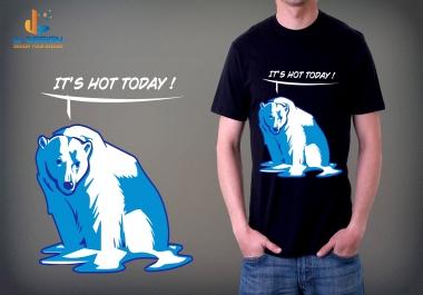 I will design a t shirt