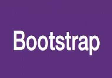 create PsD to  html site using bootstrap