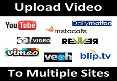 publish your video on 25 high traffic websites
