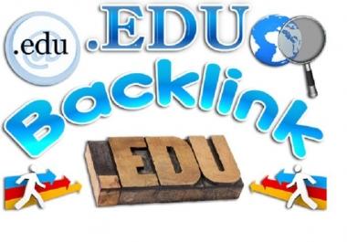 build 20 US based edu backlinks, excellent for website and youtube seo