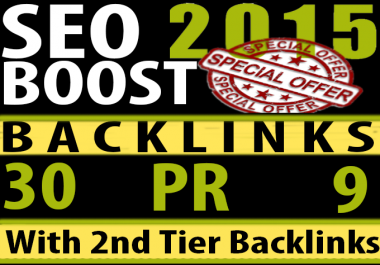 We manually do 30 PR9 to PR6 Safe SEO High Pr Backlinks 2015 Best Results
