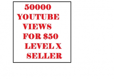 will give 50000 Youtube Vlews