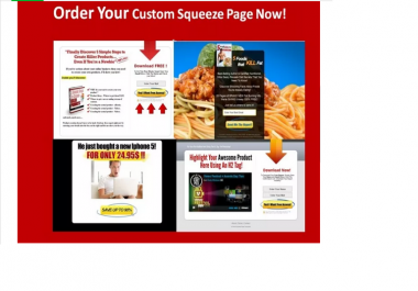 create STUNNING squeeze page or landing page for Maximum Conversion