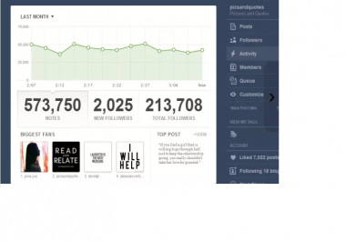 blog mention you to 210,000 tumblr followers