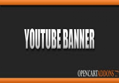 design you a youtube Banner and Matching Avatar..