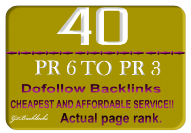 Give You 40 High PR Blog Comments Dofollow Links 100 Manully Guarantee for Your Site Only