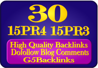 Provide You 15 PR4 15 PR3 Blog Comments Backlinks Manually
