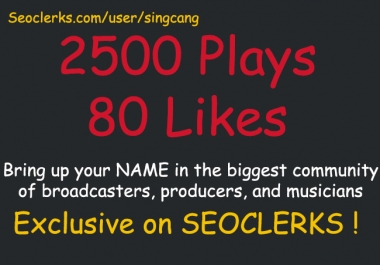 add 2500 Plays and 80 Likes SPREAKER Today