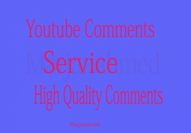YouTube Custom 110+ Comments in Your Video only
