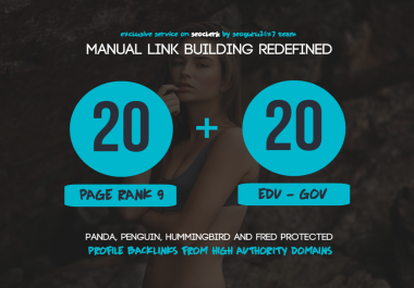 20 PR9 + 20 .EDU - .GOV Backlinks From Authority Domains