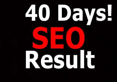 Rank you First in Google, 3110 High Quality Backlinks, 40 days SEO Results,