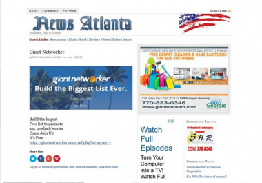 post on my Atlanta News Blog