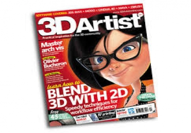 make photo realistic 3D magazine cover or inside page mockup...