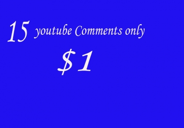 10  youtube Comments only