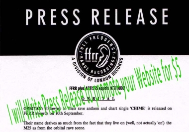 I will Write Press Release to promote your Website for