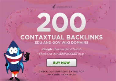 !!!!!  create 200 high PR contextual backlinks from 100 gov and edu wiki domains Buy  !!!!!