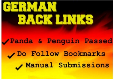 !!!!! I will provide 30 high quality and safe Germany back links !!!!!