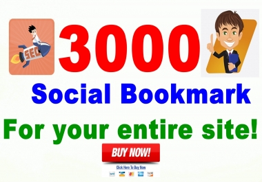 Boost your Site SERP with Quality 3000+ Social Bookmarks positive result