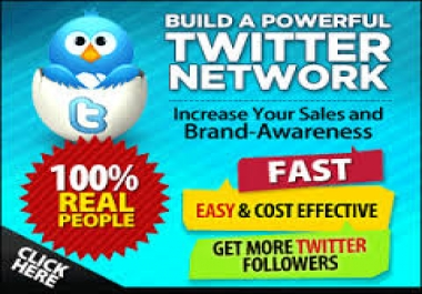 Instantly Provide U 5000+ HQ Twitter followers to you profile Only