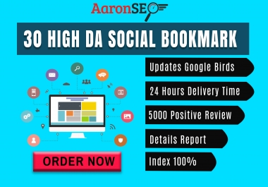 Boom! Boom! 30 High DA Social Bookmark for your website or blog or video-Boost Your Ranking