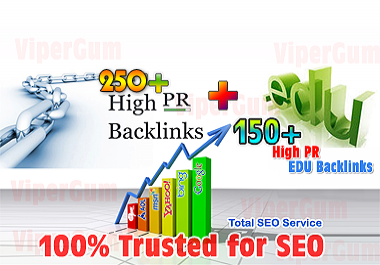 manually build 50+ High PR EDU backlinks + 150+ High PR Backlinks for SEO and SERP