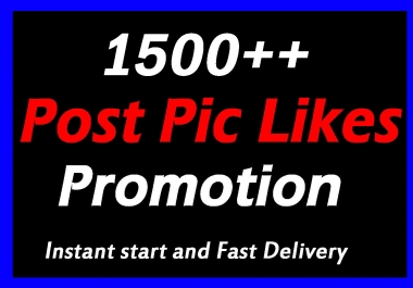 Fast 1500 High Quality Social Pictures Promotion