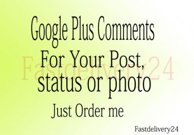 105 Google Plus Comments only