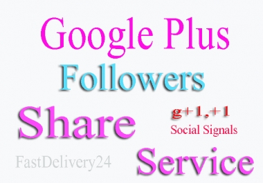 I will drip feed real 150 GOOGLE plus ones to your link