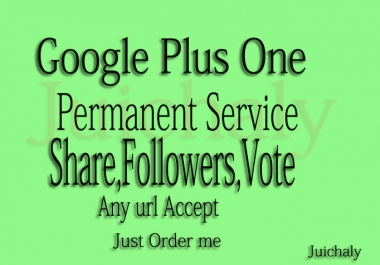 I will provide 100+ permanent Google Plus Ones
