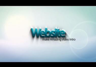 make titles Animation Video Intro