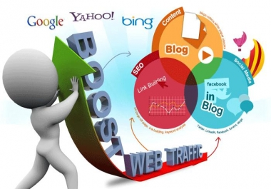 Send 20000+ Human Traffic by Google Twitter Bing Youtube etc