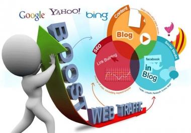 Send 40000+ Human Traffic by Google Twitter Bing Youtube etc