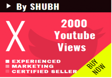 Start Instant 2000 Youtube Views