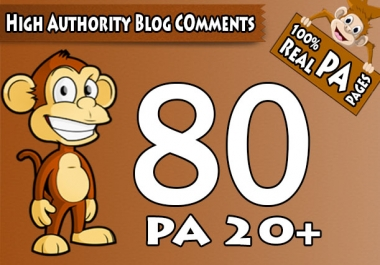 "Do 80 ""PA 20 to 70"" Dofollow Blog Comment, 100 Percent Actual High PA Pages"