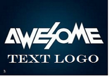 I will Design a Cool Text Logo for You