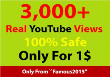 3,000+ Splittable YouTube views Non-drop HR Views Within 12-72 Hours