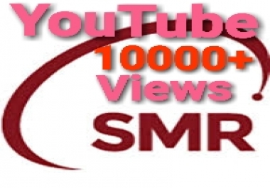 Safe Working 10000+ lifetime guarantee Youtube Video Views & 30+ Video like