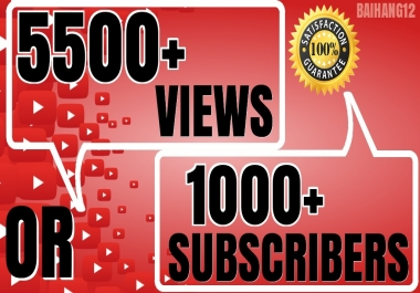 Promote Youtube With 5500 Views or 1000+ Subsribers