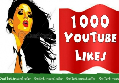 1000+Youtube Likes Complete 12-24 Hours very fast