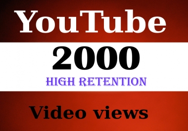 2099 HIGHT RETENTION You-Tube Views Fast & Safe delivery 24-48 H BEST OFFER SAFE ADSENSE for $1