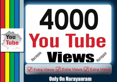 4000 To 4500 High Quality YouTube Views Fully Safe