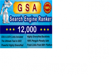 do 12000 High Pr Edu and Gov SEO Backlinks With Gsa