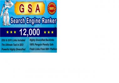 do 12000 High Pr Edu and Gov SEO Backlinks With Gsa